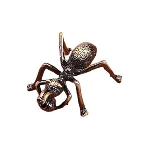 VORCOOL Té de Mascotas Hecho a Mano Tetera Tapa Soporte Metal Accesorios de decoración de Escritorio para el hogar Bronce