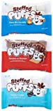 Stuffed Puffs - Variety 3 Pack, Filled Marshmallows, Perfect for S'mores and Snacking, 1 bag of Classic Milk Chocolate, 1 bag of Chocolate-on-Chocolate, and 1 bag Cookies 'n Creme (8.6 oz each)
