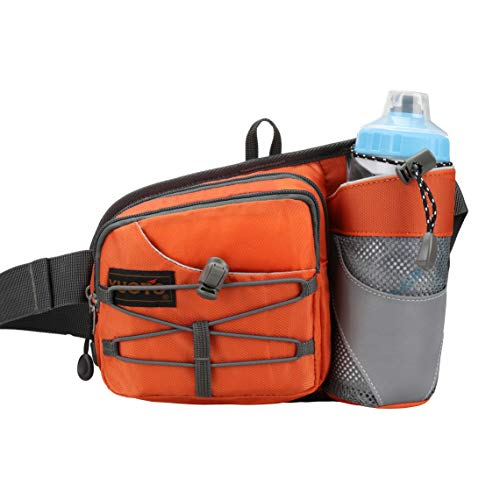 YUOTO Outdoor Fanny Pack with Water Bottle Holder for Walking Hiking Hydration Belt Waist Bag