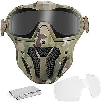ACEXIER Máscara de Paintball Militar, Gafas Desmontables con Ventilador antivaho, máscara Protectora táctica de Airsoft, máscara Facial Completa, Caza y Equipo