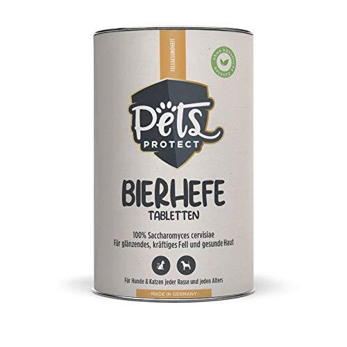 Pets Protect Bierhefe Tabletten, 150 Tabletten/225 g, Präbiotikum mit 100 % Saccharomyces cervisiae (getrocknete Bierhefe), Davon 38,7 % Rohprotein, für Hunde und Katzen geeignet