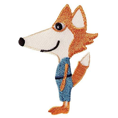 Motif exclusif renard orange/bleu