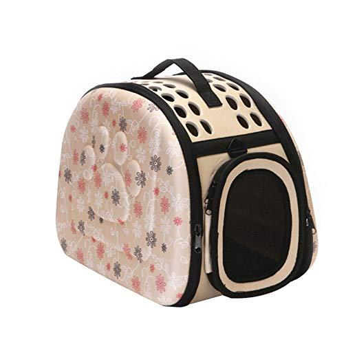 Bolsa para mascotas, bolsa de viaje para gatos, bolsa de viaje plegable, bolsa de viaje para gatos o cachorros, bolsa de hombro para mascotas S/M / L-Champagne