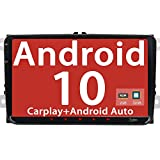 Android 10 [2GB+32GB] Quad Core estéreo de coche doble 2 DIN 9 pulgadas pantalla táctil Capacitiva SWC WiFi USB DAB+ PIP de navegación GPS para Volkswagen Golf Passat Tiguan Polo Jetta Skoda Seat