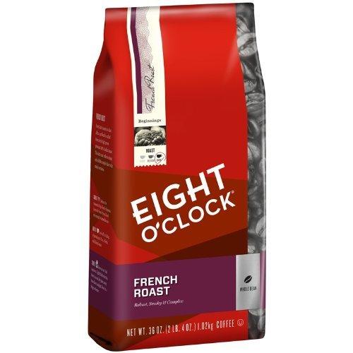 Eight OClock French Roast Whole Bean Coffee, 36-Ounce Bag, 2 Bags
