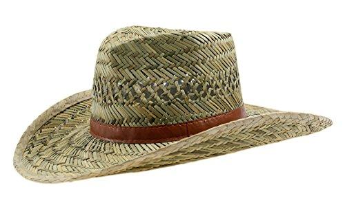 Fiebig Cowboyhut Unisex 100% Stroh Australier (56)