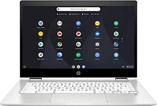 2020 Newest HP Chromebook x360-14 HD Touchscreen Intel Celeron N4000 4GB RAM 32GB eMMC Silver White Crabapple Mouse Pad