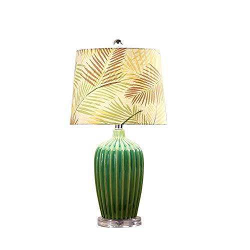 JYDQM Tabla Moderna lámpara de cerámica Blanca Sombra cónica del Tambor for Sala de Estar Dormitorio Mesilla de Noche Oficina lámpara de Mesa de la Familia