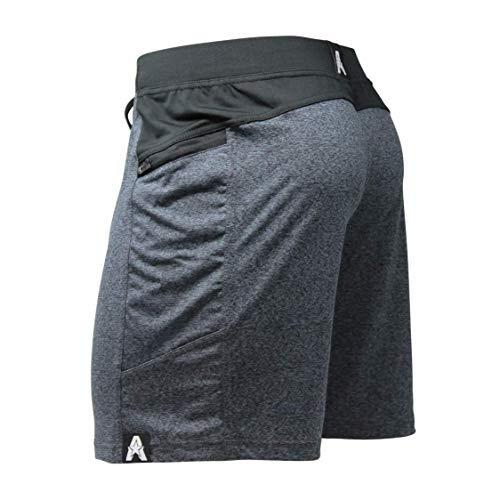 Anthem Athletics Hyperflex 7' Crossfit Workout Training Gym Shorts - Volcanic Black G2 - Medium