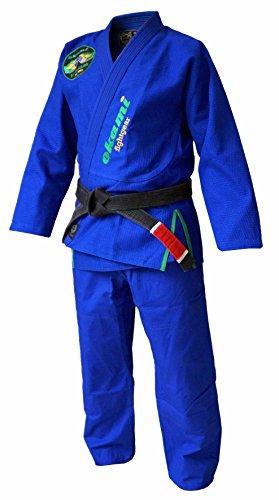 OKAMI Fightgear Traje de Brasil BJJ Gi para Hombre, Color Azul, tamaño A1/155–165cm
