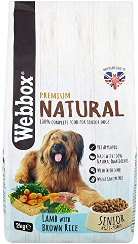 4X Webbox Natural Senior Dog Dry Food with Lamb 2kg