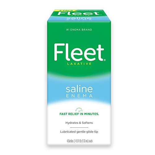 Fleet Laxative Saline Enema for Adult Constipation, 4.5 fl oz, 4 Bottles, 20164