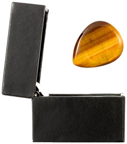 Tiger Tones TIGTBTGB1 Tiger Eye Gitarren-Plektrum in einer Geschenkbox gold