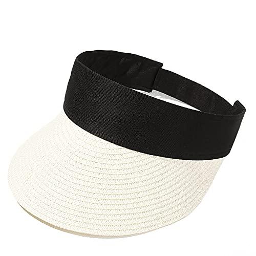 TJLSS Verano Nuevo Vacío Top SunCap Plegable Portátil Portátil Roll-Up Sombrero de Playa Ancho Brim Sombrero Moda Casual Casual Visores para Mujeres (Color : Style Five)