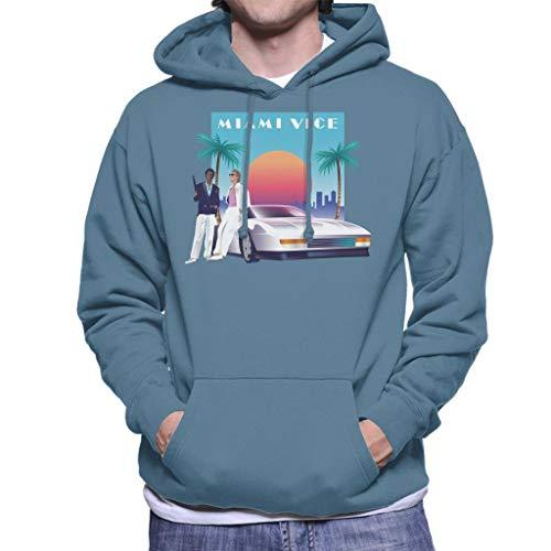 Miami Vice Sunset Men's Hooded Sweatshirt
