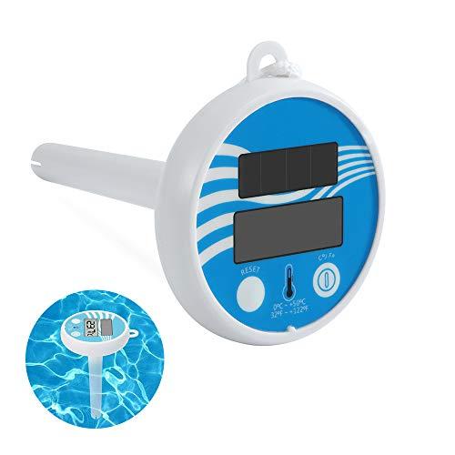 Digitales Solar Schwimmendes Poolthermometer Elektronisches Schwimmendes Thermometer Solarthermometer Mit LCD-Anzeige Für Pools, Spas, Hot Tubs Aquarien & Fischteiche Badewanne (14x8.6x8.9CM, 1 PC)