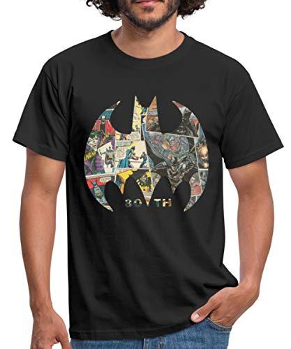 Batman 80 Ans BD T-Shirt Homme, XL, Noir