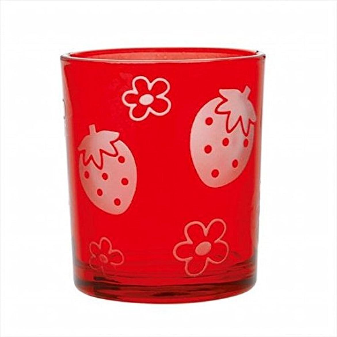 三角のどカリキュラムsweets candle(スイーツキャンドル) いちごフロストカップ 「 レッド 」 キャンドル 55x55x65mm (J1490040R)