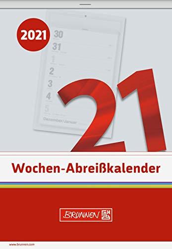 BRUNNEN 1070325001 Wochen-Abreißkalender Nr. 25, 1 Seite = 1 Woche, 105 x 150 mm, Kalendarium 2021