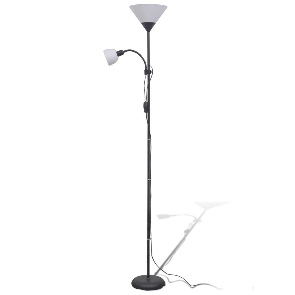 Vidaxl Lampadaire Noir Lampe Sur Pied Lampe De Sol Lampe Lumiere