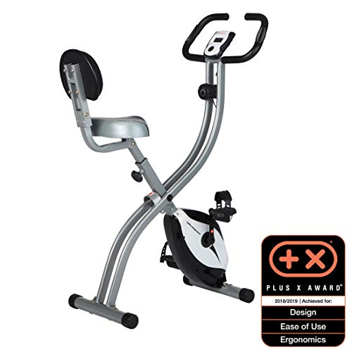 Ultrasport Unisex F-Bike Exercise Bike, Display LCD, Home Trainer Pieghevole, Livelli di...