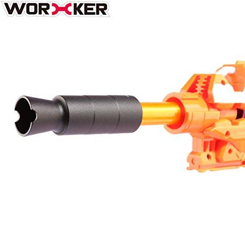 LoKauf Worker AK Mold Aluminiumlegierung Vorne Rohr Deko Kappe Zubehör für Nerf (Typ D)