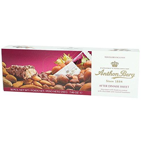 Dänisches Marzipan mit Aprikosenkernen, Madeira und gerösteten Haselnüssen ANTON BERG - AFTER DINNER SWEET (10 Stk. / 210 g) DÄNISCHE SPEZIALITÄT