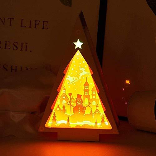 GEZHF Lámpara de escritorio creativa 3D Shadow Box USB y funciona con pilas Papercut luces nocturnas para niños guardería y dormitorio de adultos (color: estilo 3)-estilo 4