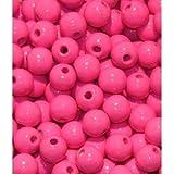 110 Holzperlen 6mm pink schweiss- und speichelecht Made in Germany