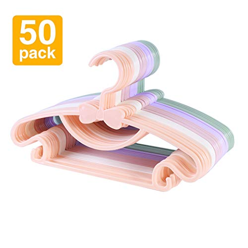 Sfesnid Grucce per bambini grucce resistenti per bambini e neonati Set di 50 pezzi vale la pena di possedere + 4 pezzi Organizzatore