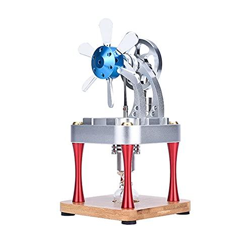 SXT Motor Stirling De Refrigeración por Agua, Modelo Educativo De Motor De Vapor De Aire Caliente, Modelo De Motor De Combustión Interna En Miniatura, Regalo De Juguete para Niños Y Adultos