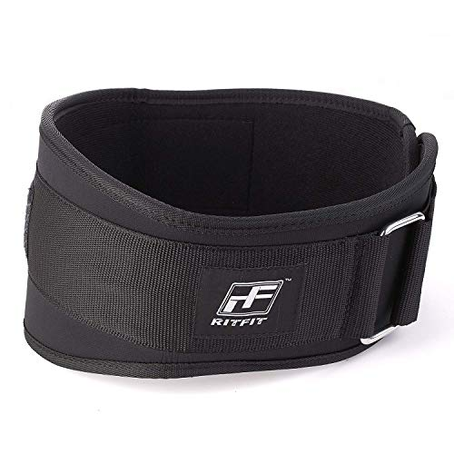 RitFit Weight Lifting Belt - Great for Squats, Clean, Lunges, Deadlift, Thrusters - Men and Women - 6 Inch - Multiple Color Choices - Firm & Comfortable Lumbar Support