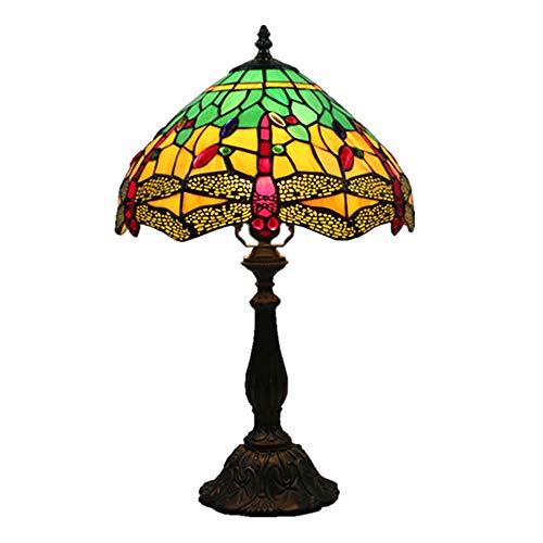 ZXASQW Lámpara de Mesa Estilo libélula de Estilo Europeo y