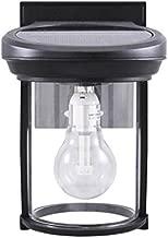 Gama Sonic GS-1B Coach Lantern Outdoor Solar Light Fixture, Wall Mount Sconce, Black