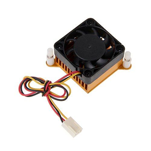 Lisanl PC Northbridge Chipset Aluminium Kühlkörper Kühlkörper 40 mm Lüfter für 3D-Drucker Kühlung