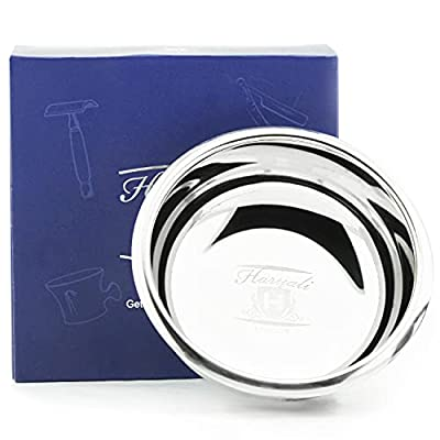 High quality stainless steel shaving bowl from Haryali London. Perfect bowl for everyday use.