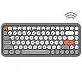 FELiCON Tastiera Bluetooth wireless, tastiera compatta 84 tasti leggera, stile retrò, struttura opaca, design macchina da scrivere, compatibile con iPad, PC, telefono e Android, iOS, Windows(Gary)