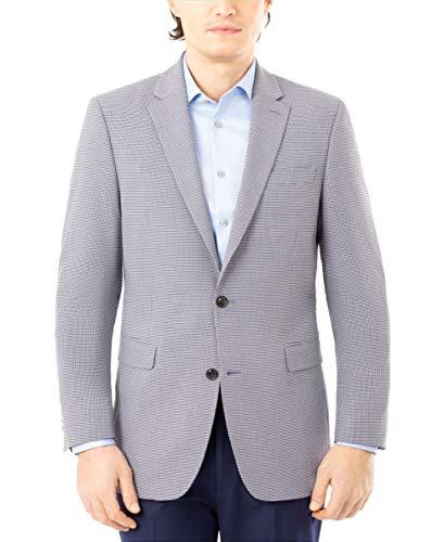 Tommy Hilfiger Men's Short Classic Blazer, Blue/Tan, 38S