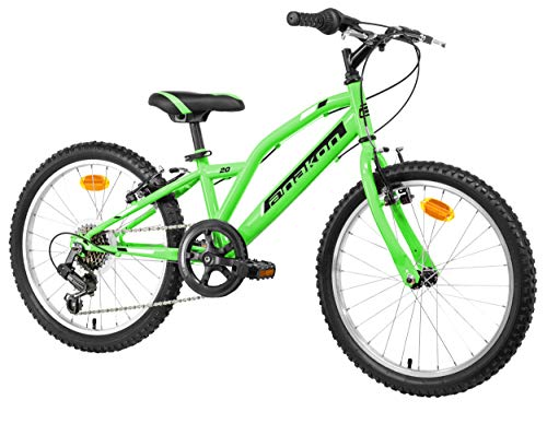Anakon Hawk Six Bicicleta de montaña, niño, Verde, 6-9 años