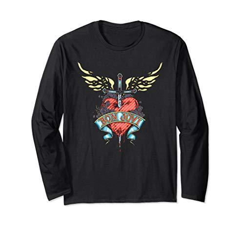 Bon Jovi Daggered Unisex Long Sleeve T-Shirt in 4 Colors