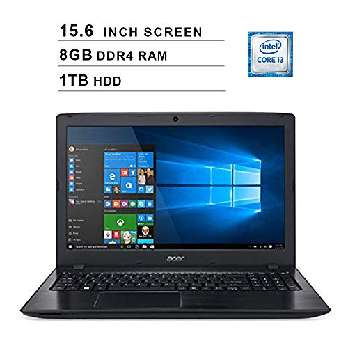Acer Aspire E5 15.6 Inch FHD Laptop (Intel Dual Core i3-8130U up to 3.4 GHz, 8GB RAM, 1TB HDD, Intel...