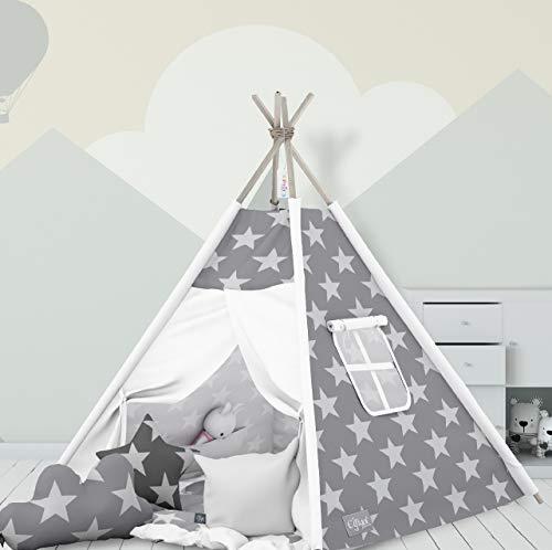 Elfique - Tenda Indiana Tipi con Doppio Rivestimento Imbottito e Tre Cuscini