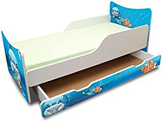 Best For Kids CHILDREN S BED with foam mattress with T V CERTIFIED 90x160 WITH DRAWER DESIGNS     children     shark