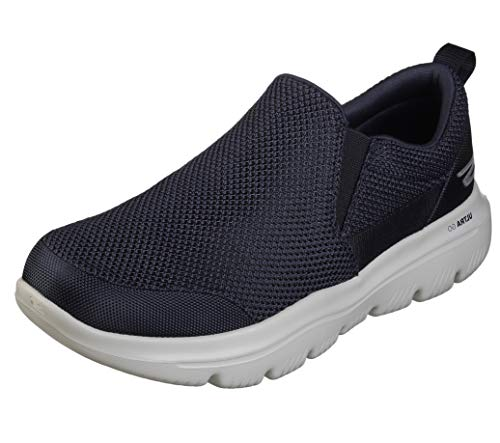 Skechers Men s GO Walk Evolution Ultra-Impeccable Sneaker, Navy Gray, 7.5