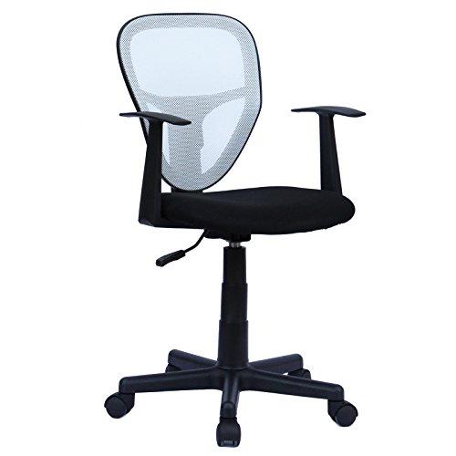CARO-Möbel Schreibtischstuhl Studio Kinderdrehstuhl Bürostuhl Drehstuhl in schwarz/weiß mit Armlehnen, höhenverstellbar