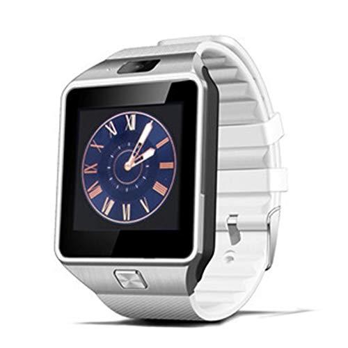 LXF JIAJU Smart Watch DZ09 SmartWatch Pedómetro Reloj De La Tarjeta SIM Tarjeta Slot Push Mensaje Bluetooth Connectivity Android Teléfono Hombres Reloj (Color : White)