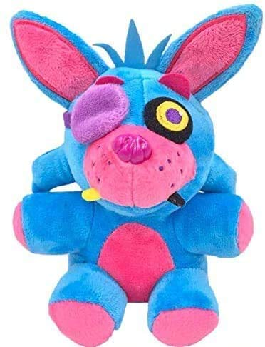 FNAF Toy Freddy Plushie 7'/ 18cm Toys Five Nights at Freddy's Nightmare Cupcake Foxy Balloon Boy Clown Stuffed Dolls FNAF Plushies (Blue Phantom Foxy) || Ship from USA