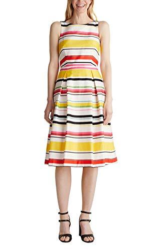 ESPRIT Collection Damen Esprit Kleid, 050EO1E306, Weiß(102/WHITE 3), 42