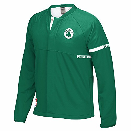 adidas Boston Celtics NBA Green 2016-17 Authentic On-Court Team Issued Pro Cut Warm Up Jacket for Men (4XLT)