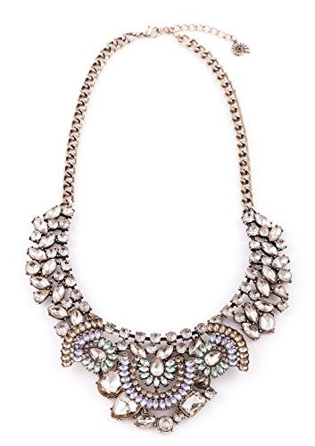 Happiness Boutique Damen Vintage Statement Kette in Goldfarbe | Große Kette Retro Glamour